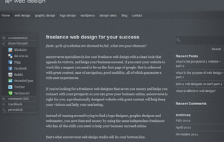 freelance web design dc