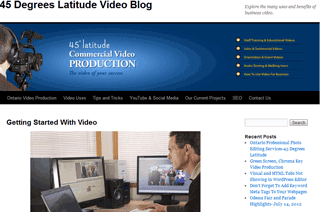 Ontario Video and Photo Production Blog