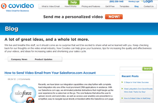 Covideo – Business Class Video Email