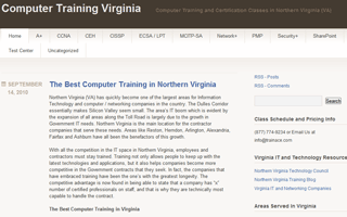 Computer Training Certification Courses in Virginia
