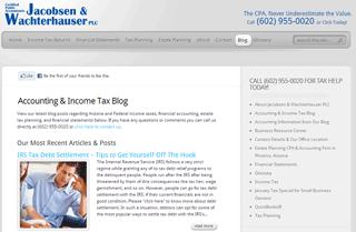 Jacobsen & Wachterhauser Accounting Blog
