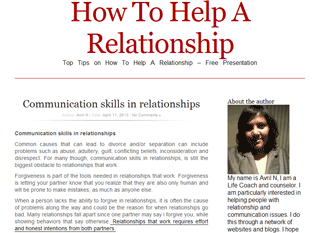 How to help a relationship