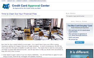 Credit Card Approval Center