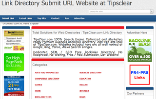 Link Directory Submit URL Website at Tipsclear