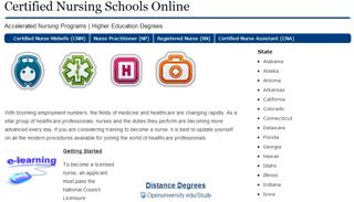Certified Nursing Schools Online