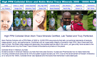 Colloial Silver Atoms - About Atomic Trace Minerals
