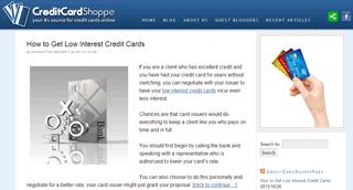 CreditCardShoppe Blog