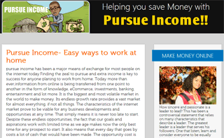 Pursue Income