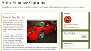Auto Finance Options