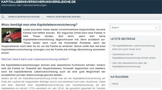 Kapitallebensversicherungvergleiche.de