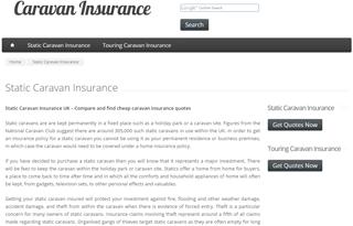 Static Caravan Insurance