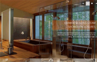 Frameless shower glass doors and enclosures in Vancouver BC