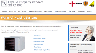 Warm Air Heating | Tupello Property Services