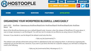 Hostoople web hosting services