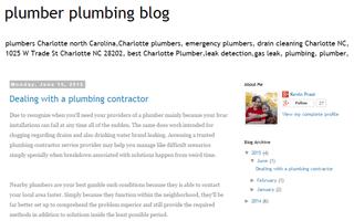 plumber plumbing blog