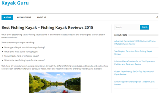 Kayak Guru - Best Fishing Kayak & more