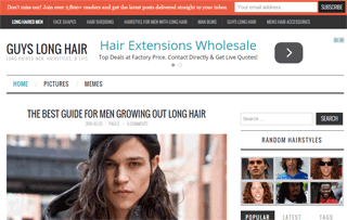 Guys Long Hair Blog