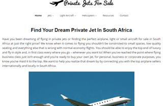PrivateJetsForSaleInSouthAfrica.co.za