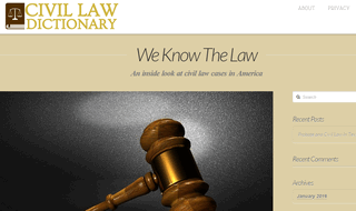 Civil Law Dictionary