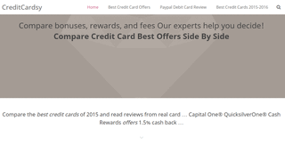 Compare Credit Cards Online | Best Credit Cards