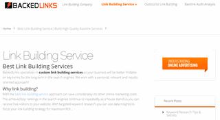 Best Link Building Services | BackedLinks.com