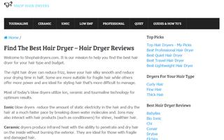 Shop Hair Dryers