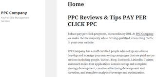 PPC Company and Pay-Per-Click Company | PPCCompany.us