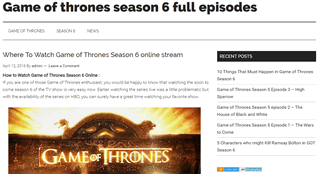 watch game of thrones show