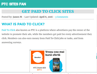 Get Paid To Click Sites - Earn Money Online