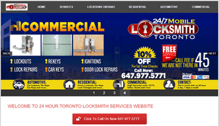 WELCOME TO 24 HOUR TORONTO LOCKSMITH SERVICES