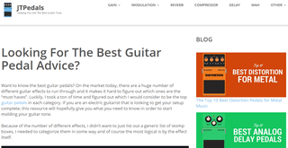 JT Pedals Guitar Effects Blog