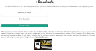 Uber Fare Estimate Online