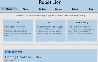 Robot Lion - SEO for Norwich, Norfolk