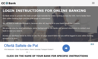 CC Bank - Login Instructions for Online Banking