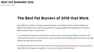 Best Fat Burners 2016