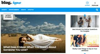 Blog Happens - We Speak the Language of Your Interests