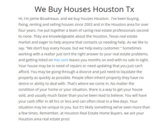 Houston Real Estate House Buyers