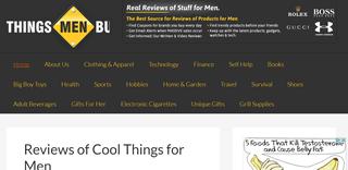 Things Men Buy Reviews of Cool Stuff for Guys