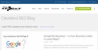 The Cleveland SEO Blog