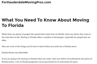 Fort Lauderdale Moving Pros