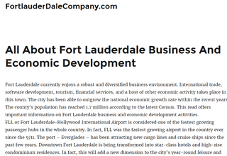 Fort Lauderdale Company