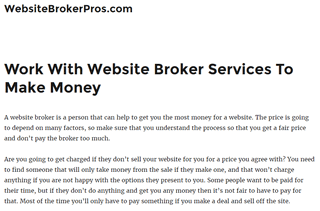 Website Broker Pros Official Site