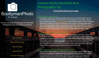 Camera Shake Handheld Rule Photography Tip