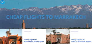 Marrakech Cheap flights