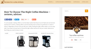 TOP coffee machines reviews - all about coffee