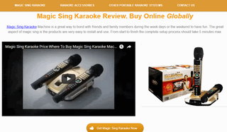 Magic Sing Karaoke System And Accesories