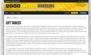 One Stop Handling - Scissor Lifts