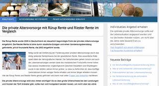 Ruerup und Riester Rente Informationen