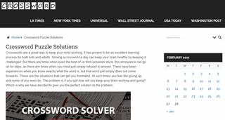 Crossword Puzzle Solutions