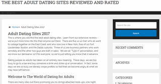 Adult Dating Reviews 2017